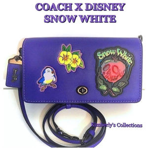 Coach Disney Snow White Apple Bluebird Handbag NWT